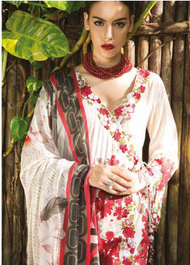 Maheen Taseer Embroidered Lawn Unstitched 3 Piece Suit MHT18L 3A - Spring / Summer Collection