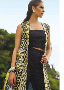 Maheen Taseer Embroidered Lawn Unstitched 3 Piece Suit MHT18L 3B - Spring / Summer Collection