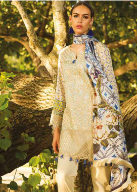 Maheen Taseer Embroidered Lawn Unstitched 3 Piece Suit MHT18L 4B - Spring / Summer Collection