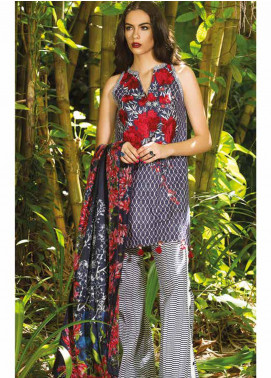 Maheen Taseer Embroidered Lawn Unstitched 3 Piece Suit MHT18L 6A - Spring / Summer Collection