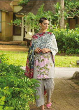 Maheen Taseer Embroidered Lawn Unstitched 3 Piece Suit MHT18L 6B - Spring / Summer Collection