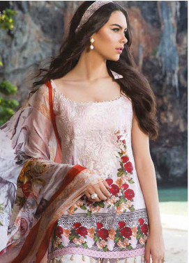 Maheen Taseer Embroidered Lawn Unstitched 3 Piece Suit MHT18L 7A - Spring / Summer Collection