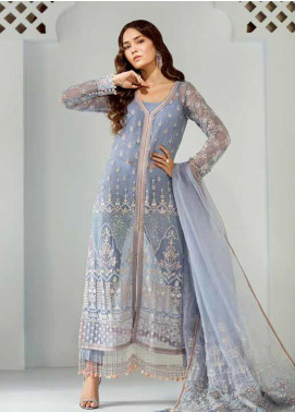 Mila Embroidered Chiffon Unstitched 3 Piece Suit MA19-C1 02 Nuage - Luxury Collection