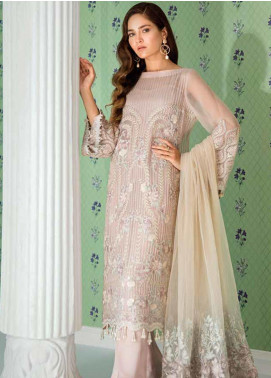 Mila Embroidered Chiffon Unstitched 3 Piece Suit MA19-C1 06 Narah - Luxury Collection
