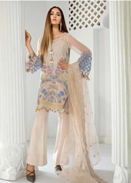 Mila Embroidered Chiffon Unstitched 3 Piece Suit MA19-C1 07 Livya - Luxury Collection