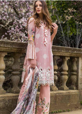 Mina Hasan Embroidered Lawn Unstitched 3 Piece Suit MH19F 8A - Festive Collection