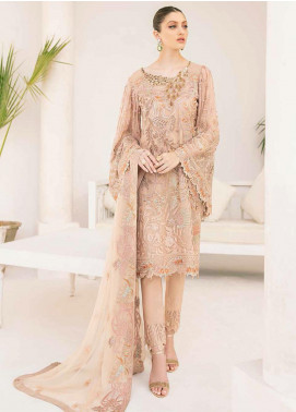 Minhal by Ramsha Embroidered Chiffon Unstitched 3 Piece Suit RSH20M 310 - Luxury Collection