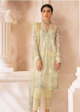 Mirabella by Gulaal Embroidered Net Unstitched 3 Piece Suit GL20M MG-07 CAMELLIA - Luxury Collection