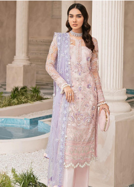 Mirabella by Gulaal Embroidered Net Unstitched 3 Piece Suit GL20M MG-08 REYNA - Luxury Collection