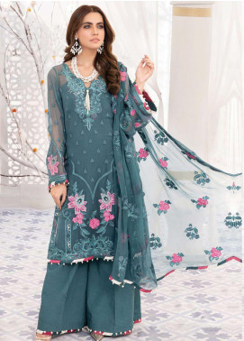 Mirage by Sana Sheraz Embroidered Chiffon Unstitched 3 Piece Suit SSH20M 01 Ethereal - Festive Collection