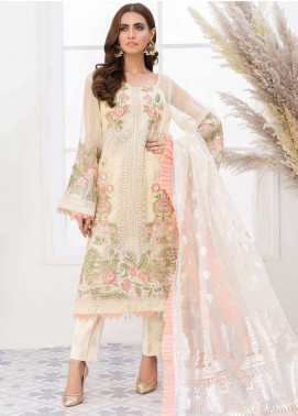 Mirage by Sana Sheraz Embroidered Organza Unstitched 3 Piece Suit SSH20M 04 Eunoia - Festive Collection