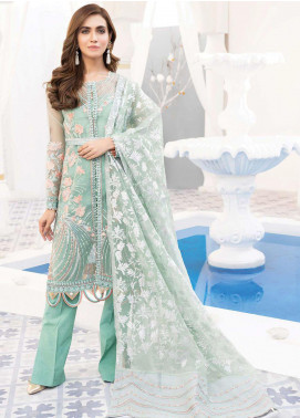 Mirage by Sana Sheraz Embroidered Organza Unstitched 3 Piece Suit SSH20M 06 Euphoria - Festive Collection