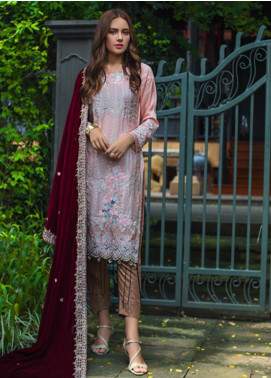 Mirha by ZS Textile Embroidered Charmeuse Unstitched 3 Piece Suit MZS19CH 1 - Winter Collection