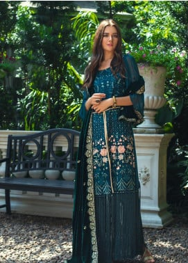 Mirha by ZS Textile Embroidered Charmeuse Unstitched 3 Piece Suit MZS19CH 5 - Winter Collection