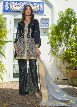 Mirha by ZS Textile Embroidered Charmeuse Unstitched 3 Piece Suit MZS19CH 6 - Winter Collection