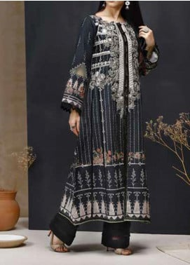 Mishkal by Rungrez Embroidered Lawn Unstitched 2 Piece Suit RNG20BW 01 - Black & White Collection