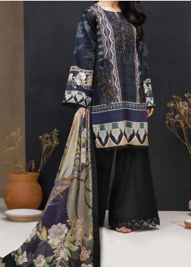 Mishkal by Rungrez Embroidered Lawn Unstitched 3 Piece Suit RNG20BW 06 - Black & White Collection