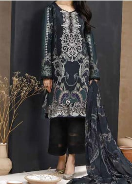 Mishkal by Rungrez Embroidered Lawn Unstitched 3 Piece Suit RNG20BW 07 - Black & White Collection