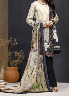 Mishkal by Rungrez Embroidered Lawn Unstitched 3 Piece Suit RNG20BW 08 - Black & White Collection