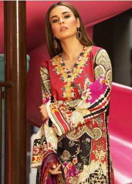 Mishkal by Rungrez Embroidered Lawn Unstitched 3 Piece Suit MSK19L 07 - Festive Collection