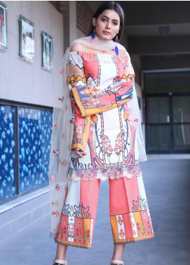 Mishkal by Rungrez Embroidered Lawn Unstitched 3 Piece Suit MSK19L 12 - Festive Collection