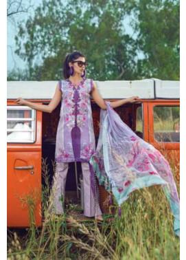 Mishkal Embroidered Lawn Unstitched 3 Piece Suit MK17L 5B