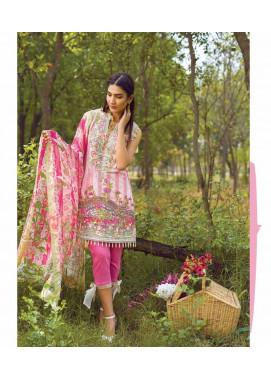 Mishkal Embroidered Lawn Unstitched 3 Piece Suit MK17L 6A