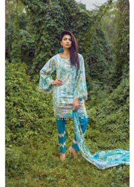 Mishkal Embroidered Lawn Unstitched 3 Piece Suit MK17L 6B