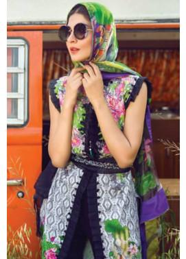 Mishkal Embroidered Lawn Unstitched 3 Piece Suit MK17L 8B