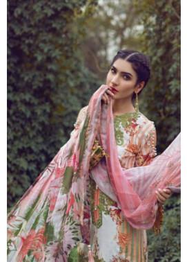 Mishkal Embroidered Lawn Unstitched 3 Piece Suit MK17L 9A