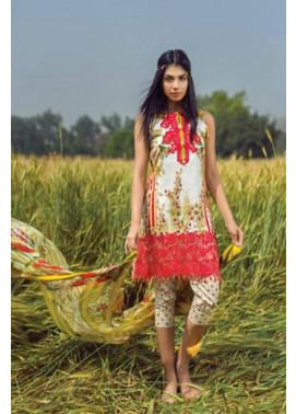 Mishkal Embroidered Lawn Unstitched 3 Piece Suit MK17L 9B