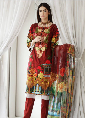 Malhar Embroidered Lawn Unstitched 3 Piece Suit MLI18F 02 - Festive Edition 2018