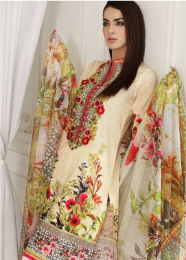Malhar Embroidered Lawn Unstitched 3 Piece Suit MLI18F 04 - Festive Edition 2018