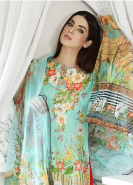 Malhar Embroidered Lawn Unstitched 3 Piece Suit MLI18F 06 - Festive Edition 2018