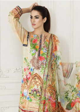 Malhar Embroidered Lawn Unstitched 3 Piece Suit MLI18F 09 - Festive Edition 2018