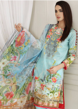 Malhar Embroidered Lawn Unstitched 3 Piece Suit MLI18F 12 - Festive Edition 2018