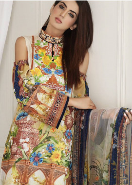 Malhar Embroidered Lawn Unstitched 3 Piece Suit MLI18F 13 - Festive Edition 2018