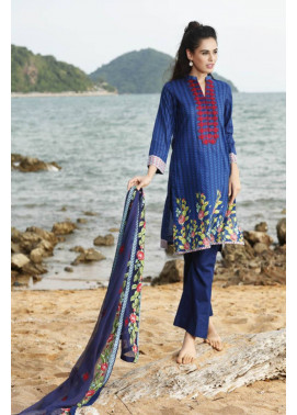 Al Zohaib Embroidered Lawn Unstitched 3 Piece Suit MN17E 10A