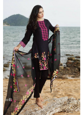 Al Zohaib Embroidered Lawn Unstitched 3 Piece Suit MN17E 10B