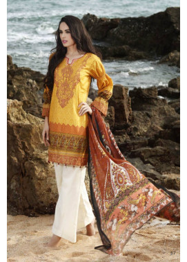 Al Zohaib Embroidered Lawn Unstitched 3 Piece Suit MN17E 11
