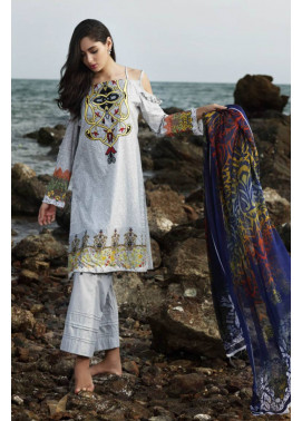 Al Zohaib Embroidered Lawn Unstitched 3 Piece Suit MN17E 12