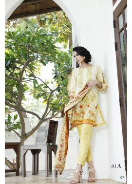 Al Zohaib Embroidered Lawn Unstitched 3 Piece Suit MN17E 1A