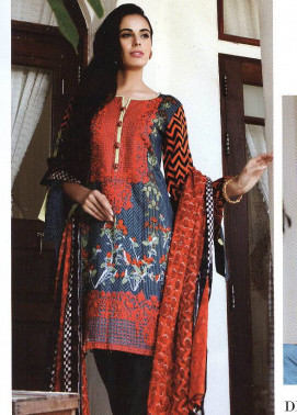 Al Zohaib Embroidered Lawn Unstitched 3 Piece Suit MN17E 2B