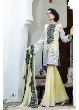 Al Zohaib Embroidered Lawn Unstitched 3 Piece Suit MN17E 3B