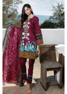 Al Zohaib Embroidered Lawn Unstitched 3 Piece Suit MN17E 4B