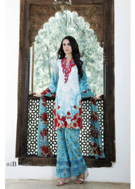 Al Zohaib Embroidered Lawn Unstitched 3 Piece Suit MN17E 5B