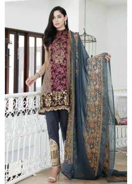 Al Zohaib Embroidered Lawn Unstitched 3 Piece Suit MN17E 6A