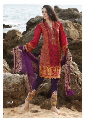 Al Zohaib Embroidered Lawn Unstitched 3 Piece Suit MN17E 6B