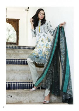 Al Zohaib Embroidered Lawn Unstitched 3 Piece Suit MN17E 7A