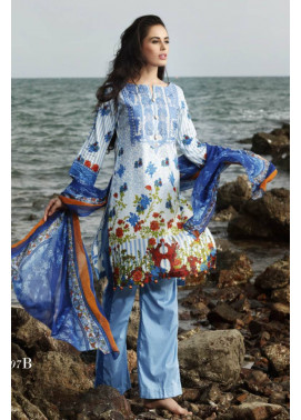 Al Zohaib Embroidered Lawn Unstitched 3 Piece Suit MN17E 7B